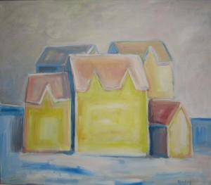 """""""Vintersol"""", akryl på lerret, 70 x 80 cm"""