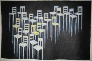 Akryl på fritt lerret 145 x 230 cm