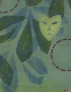 1986 Vimpel drake og masker detalj